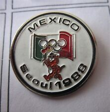 1988 SEOUL OLYMPICS MEXICO WITH GAMES MASCOTTE NOC  PIN BADGE