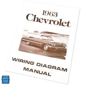 1963 Chevrolet Impala Bel Air Wiring Diagram Manual ...