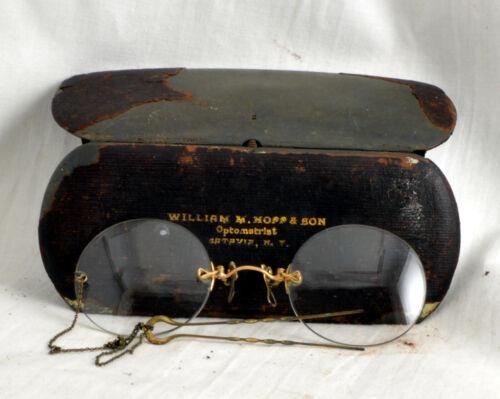 Antique Fits-Up Pince Nez  Eyeglasses w/ Victorian