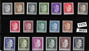 MNH    Third Reich Germany stamp set 1941 Adolf Hitler Ukraine Overprints WWII