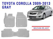 Floor Mats Set For Toyota Corolla 2009 2013 Gray 3d Odor Full Set Rubber Liners Fits 2012 Toyota Corolla