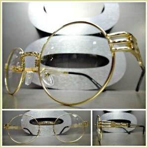 4627e94b9f Image is loading Mens-Women-OVERSIZED-VINTAGE-RETRO-Style-Clear-Lens-