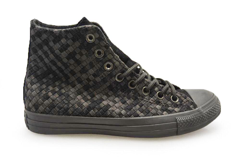 Unisex Converse Chuck Taylor All Star CTAS Hi Weave - 153935 C-Triplo Nero tra Scarpe classiche da uomo