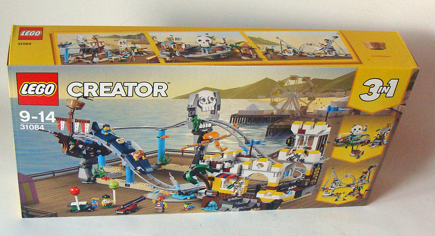 Lego® Creator 31084 - Piraten Achterbahn 923 Teile 9-14 Jahren - Neu