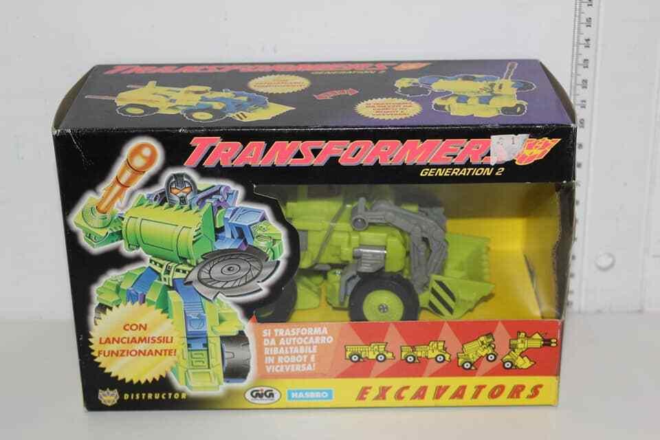Transformers G2 Constructicons Excavators Macigno Distructor Hasbro Gig