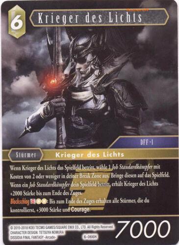 zum Auswählen -KEIN FOIL Alle Karten Final Fantasy TCG Opus 6 VI C, R, H, L