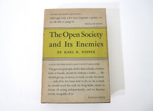 1950-Rare-Book-1st-US-ed-The-Open-Society-And-Its-Enemies-Karl-Popper-Princeton