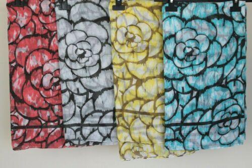New Ladies Summer Floral Print Lightweight Contrast Beach Wrap Scarf Shawl
