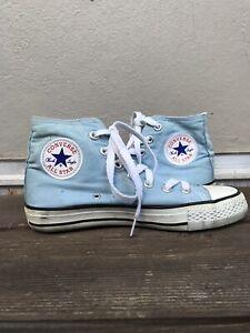 Details zu Converse Allstar Chucks High Top In Grau Blau, Größe 36