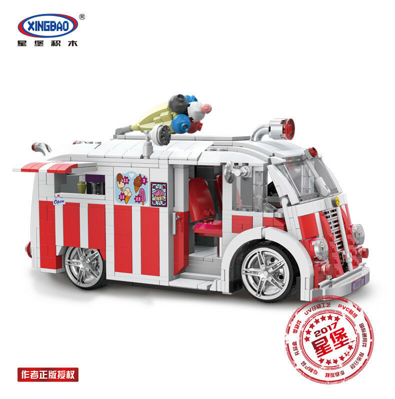 1000Pcs Eic Cream Wagen Auto Modell Bausteine Bildung Spielzeug Geschenk Kinder