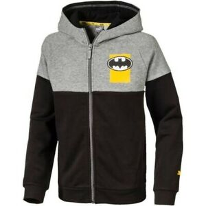 Details zu Puma Batman Jungen ZIP Hoodie Gr. 164 NEU Pullover Sweat Strick Trainings Jacke