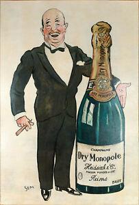 Huile sur toile-SEM-Champagne Dry Monopole-Charlie HEIDSIECK-Reims - 1927