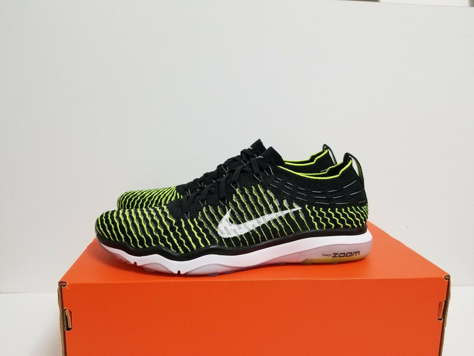 NIKE WMNS  AIR ZOOM FEARLESS FLYKNIT  WMNS BLACK/WHITE-VOLT 850426 002 5c4f66