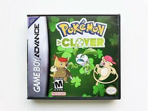 Pokemon-Clover-v1-2-Case-Fakemon-GBA-Gameboy-Advance-Fan-Made-USA-Seller