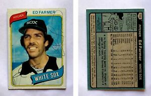 Ed Farmer Signed 1980 Topps #702 Card Chicago White Sox Auto Autograph