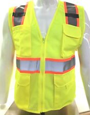 Two Tone High Visibility Reflective Yellow Safety Vest X Small 5xl
