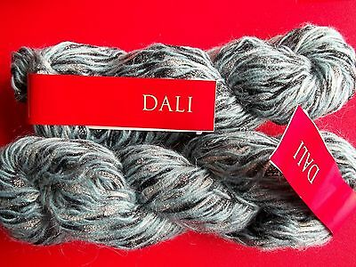 Feza Yarns Dali wool/mohair/nylon luxury yarn, Teal, lot of 2 (140 yds ea)