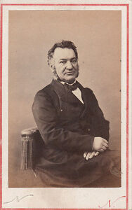 Image Is Loading Photo Business Card Nadar Louis Veuillot Circa 1870