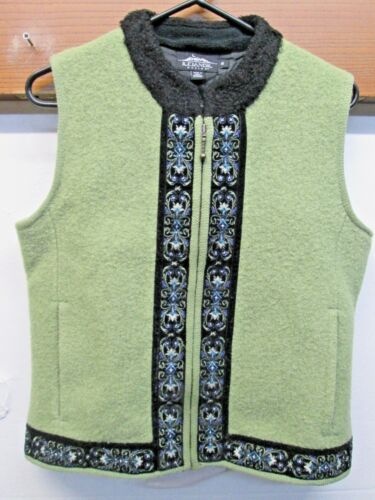 Débardeur Euc bouillie laine à brodé avec glissière complète M en en fermeture islandaise laine gdqrwtd