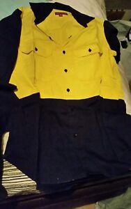 Used-Mens-HARD-YAKKA-Long-Sleeve-Spliced-Shirt-2-Tone-Workwear-BW2360-size-S