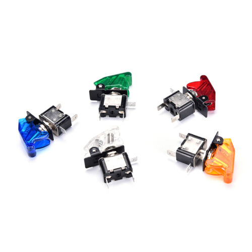1x Universal 12V 20A Racing Car Vehicle ON//OFF Light Rocker Toggle Switch Cover#