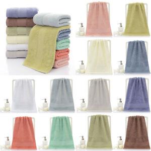 Solid Color 100 Egyptian Cotton Super Soft Luxury Large Bath Towels