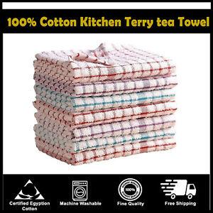 Paquete-De-12-Terry-100-Algodon-Panos-De-Cocina-De-Cocina-Panos-Plato-Secado-Limpieza
