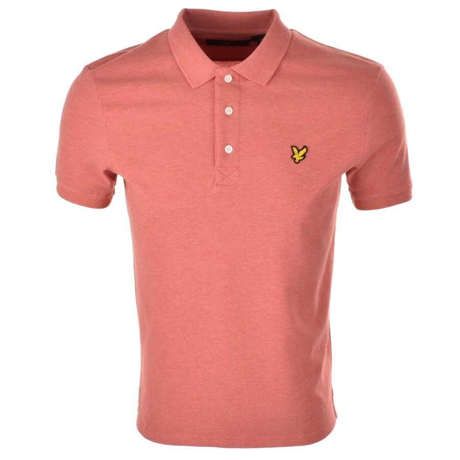 Lyle & Scott Da Uomo Polo T SHIRT screziato MANICA CORTA PIQUE TERRACOTTA screziato SHIRT XS-XXL 1fe810