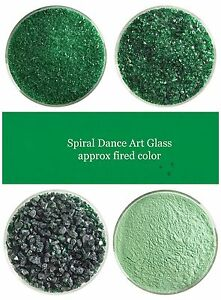 Bullseye COE 90 Kelly Green Transparent Glass Frit~ 2oz Choice Fusing Supplies