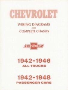 chevrolet 1942 thru 1946 chevy pick up truck wiring diagram 42 46 ebay rh ebay com