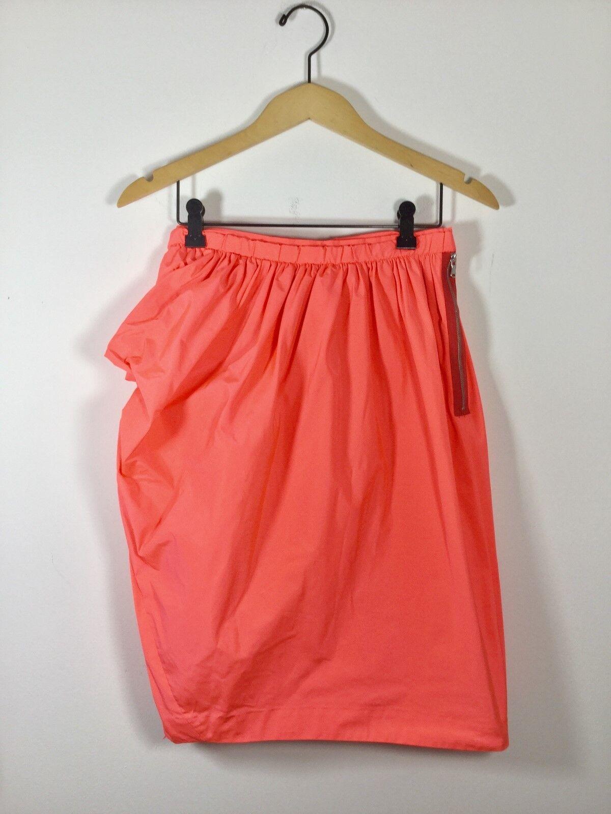 MARC BY MARC JACOBS Lava orange Bubble Size 6 Knee Length Skirt