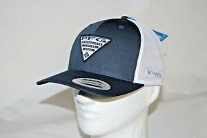 Columbia-PFG-Logo-Patch-Tarpon-Springs-Ball-Cap-Mesh-Snapback-Hat-in-Navy