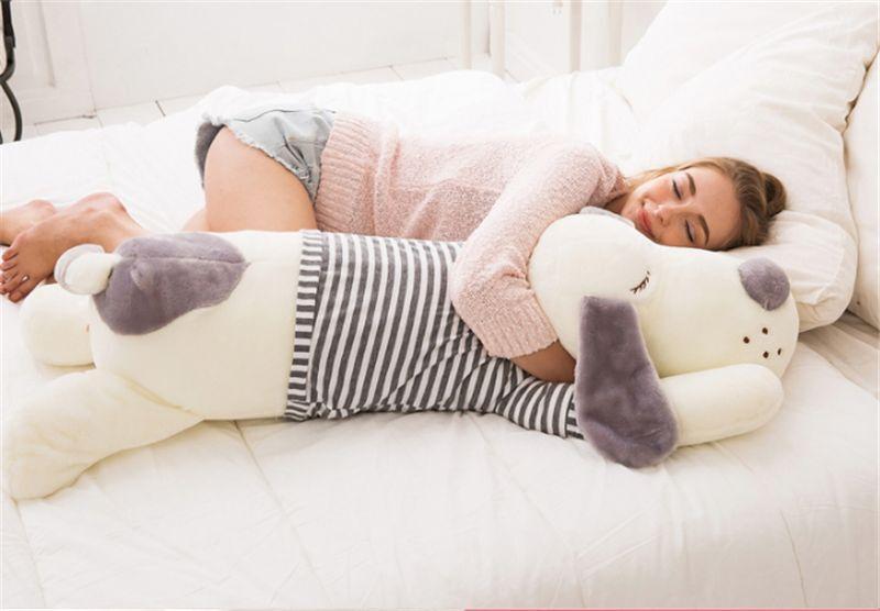 Giant Plush Creative Dog Softly Toys Dolls Sleeping Pillow 70cm 100cm Xmas gifts