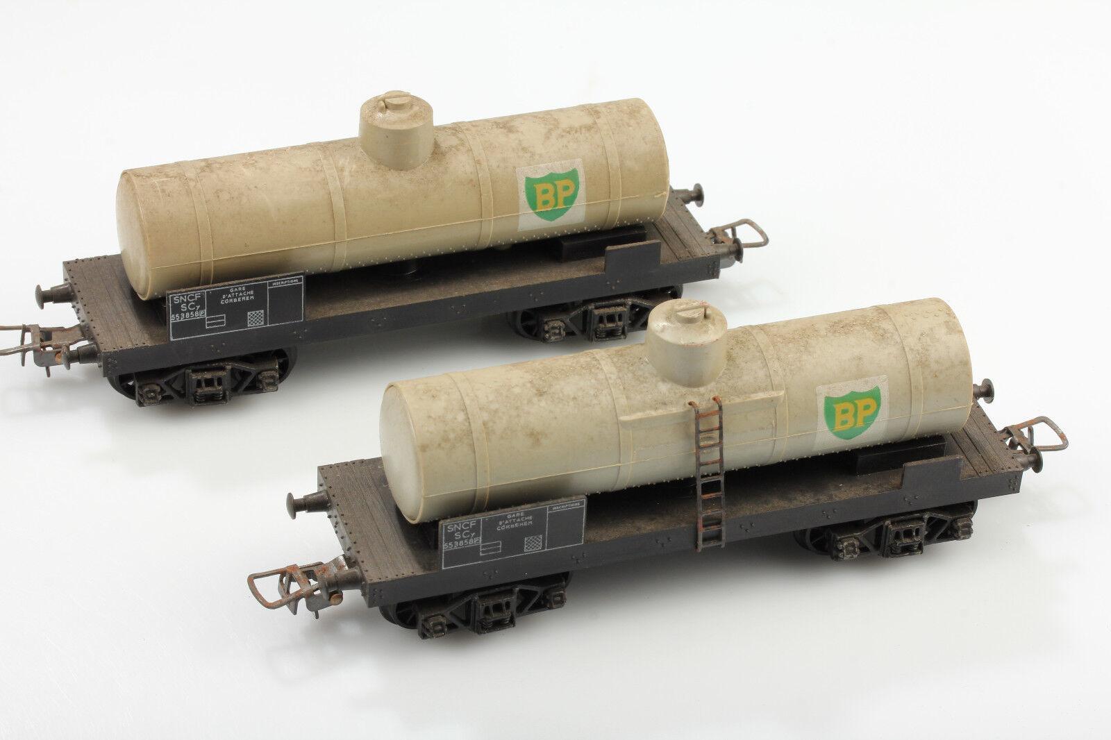 H0 Hornby Ach0 2 Bastante Schmutzige Vagón Cisterna Bp Suciedad Corrosión