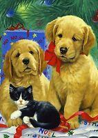 Toland Home Garden Golden Puppies 12.5 X 18-inch Decorative Garden Flag