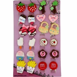 Image Is Loading Cute Cartoon Clip On Earrings Lot Of 12pairs
