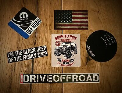 2x Jeep Aufkleber SUV 4x4 Vintage Offroad Allrad USA Wrangler TJ JK V8 CRD #443