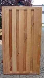 Mandioqueira Sichtschutztor Holz Gartentor Sichtschutz Tür Tor