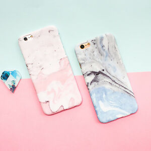 Granite-Marble-Couple-Pink-Blue-Matte-PC-Hard-Case-Cover-for-iPhone-6-6S-7-Plus