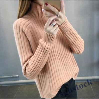 Mens Wool Blend Turtleneck Long Sleeve Knitwear Slim Fit Pullover Sweater Zsell