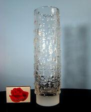 60er Emil Funke Grial-Glas-cabaña Design Nanny still era textured jarrón Vintage