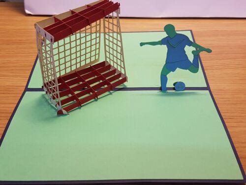 Pour tous les fan de football dans Tout Occasions 3D Pop Up Football Match Carte