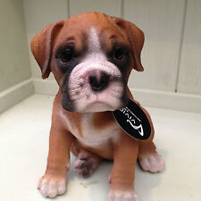 Boxer Dog Pup  Vivid Arts Garden Ornament