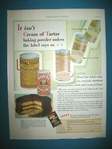 PUBLICITE-CROYAL-BAKING-POWDER-CREAM-OF-TARTAR-ORIGINAL-VINTAGE-PRINT-AD-1920-039-s