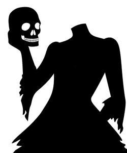 Vinyl Decal Headless Women Skull Silhouette Halloween ...