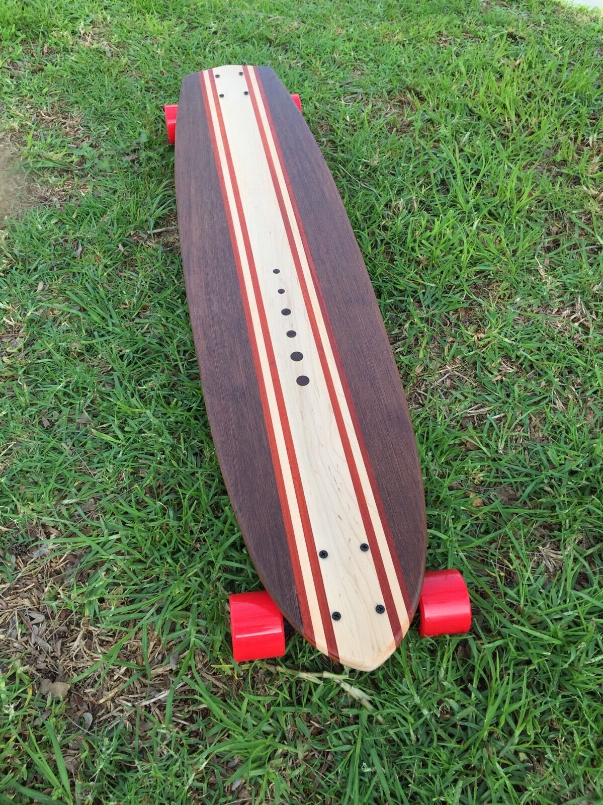 Longboard made of Solid Wood - Blinky - 42x10 (with Inlays)