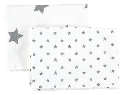 Bellybutton® Baby 2 teil Set Mulltücher Spucktücher Sterne Weiß Grau 2020 NEU!