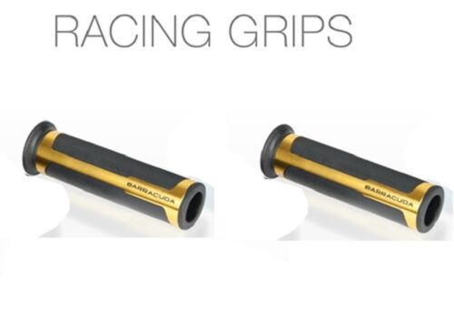BARRACUDA COPPIA MANOPOLE RACING UNIVERSALI ORO GRIPS GOLD APRILIA RS 125