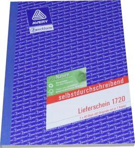 Lieferschein 1720 Zweckform Vorlage F Handel Bau Baunebengewerbe