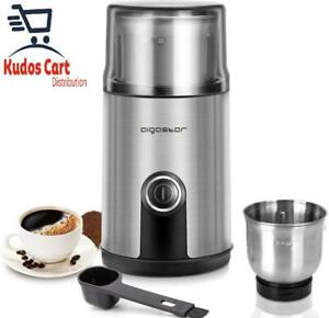 Aigostar Electric Coffee Grinder Stainless Steel Bowl Spice Mill Beans Blender